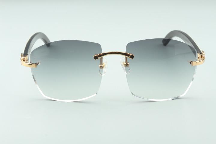 Gafas de sol directas calientes A4189706 Top Wild Wild Blanco y negro Fábrica Templos híbridos de búfalo, gafas. Unisex Natural Calidad Moda New Hor UAPD