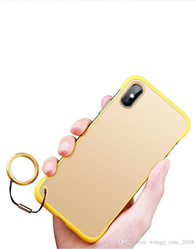 Funda telefónica para iPhone12 11 8 Plus XR Max Funda Cubierta Ultra Thin Slim Matte Transparente Transparente Funda