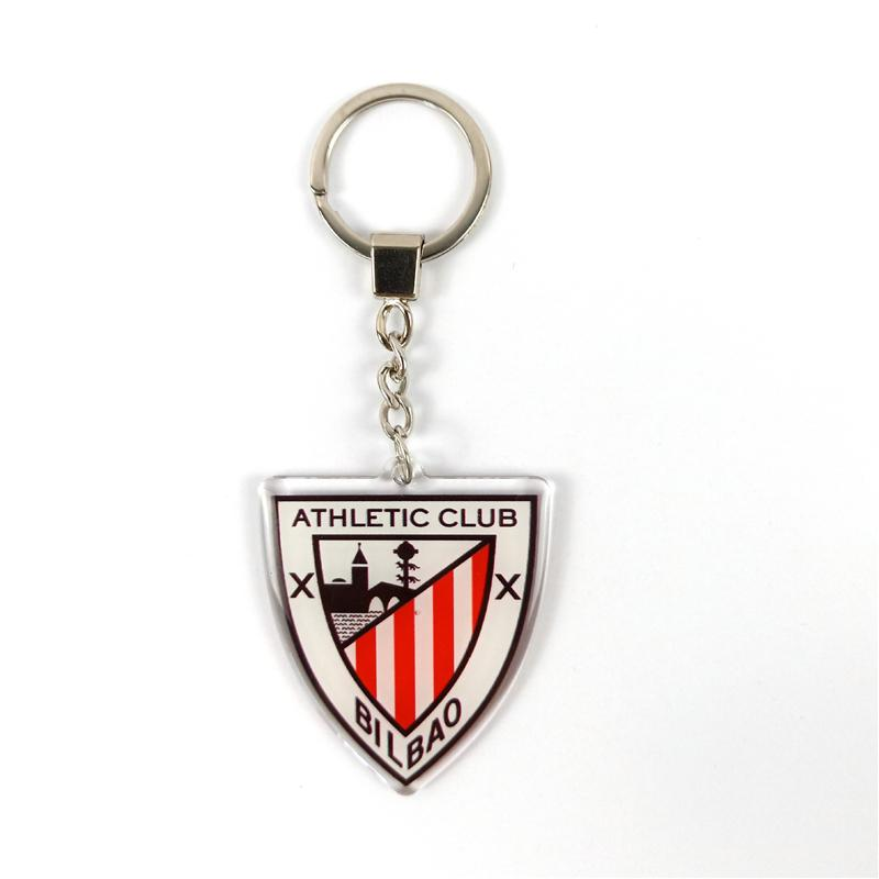 Futbol Hayranları Akrilik kolye Takı La Liga Atletik Futbol Kulübü Anahtarlık Takımı Logo Anahtarlık Anahtarlık