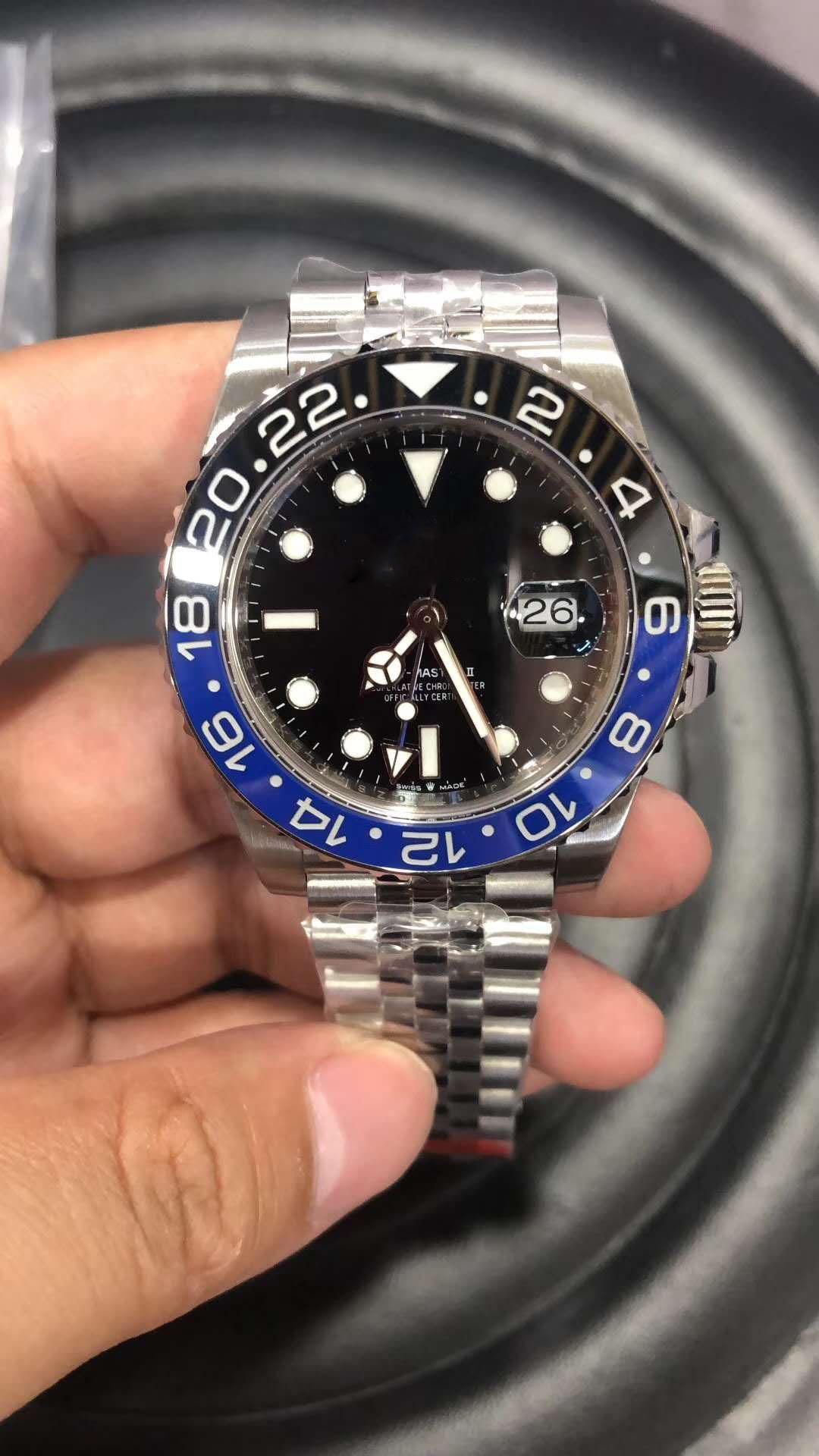 Siyah Seramik Bezel Basel Asya 2813 Mekanik Otomatik 40mm Erkek geneva Saatler ile Dial gmt Erkek Yüksek kaliteli BP son sürümü 126.710