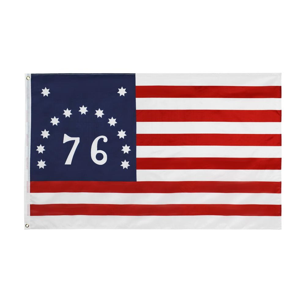 New 3x5 Bennington 76 Flag Banner American Revolution Flag Decoration Home Polyester Printed Flying Hanging Custom Style