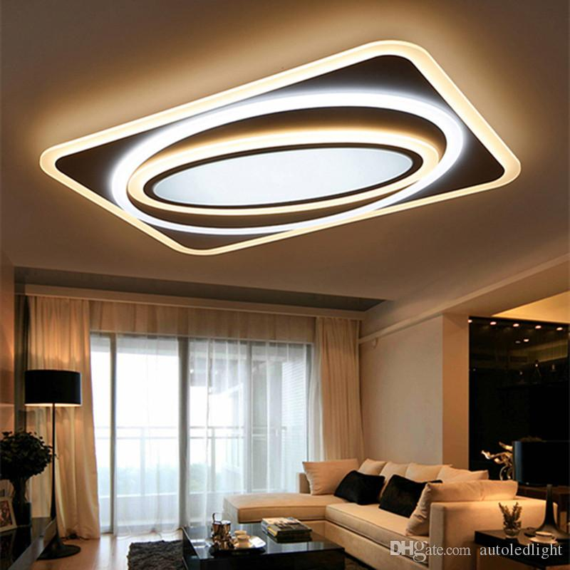 Modern Led Ceiling Chandelier Lights Square Acrylic Led Ceiling Lighting Fixtures for Living Room Bedroom Decoration