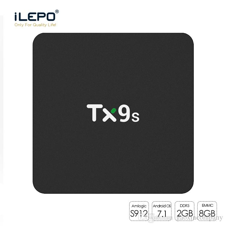 Smart TV Box TX9s Amlogic S912 Octa core Android TV Box 1 Piece 2+8/2+16GB with 2.4GHz Wifi Android 7.1
