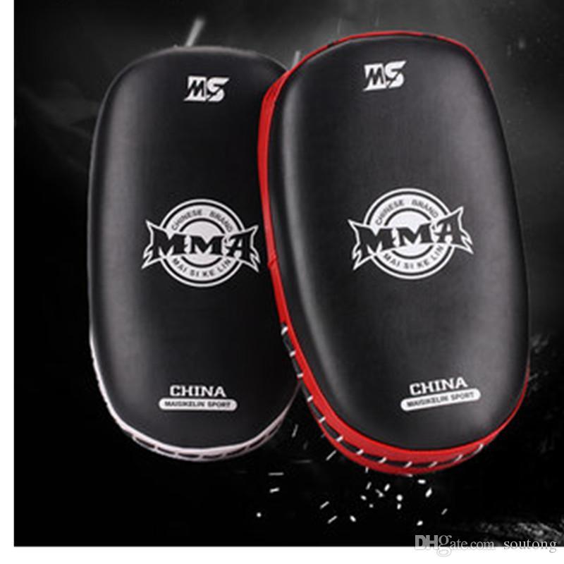 Pie profesional Objetivo Pu + Eva Muay Thai Kick Boxeo Entrenamiento Escudo Curva Almohadillas Punzón Mma Pie Objetivos Fitness Culturismo