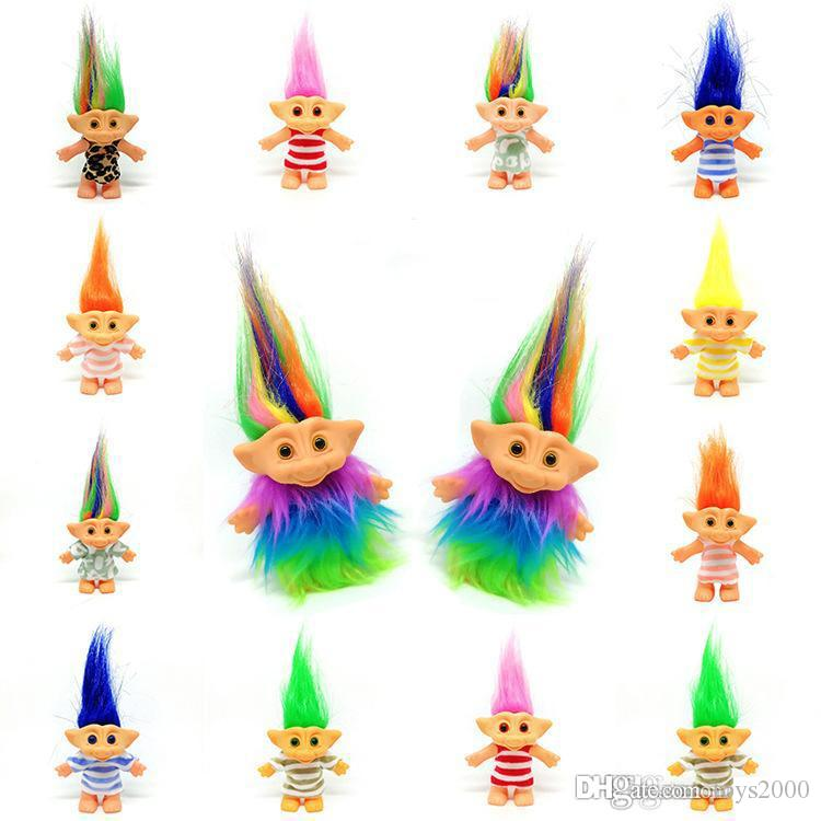 new arrival funny Troll Doll Novelty Collection Ugly dolls Nostalgic Dress Troll Doll kids toys Retail wholesale