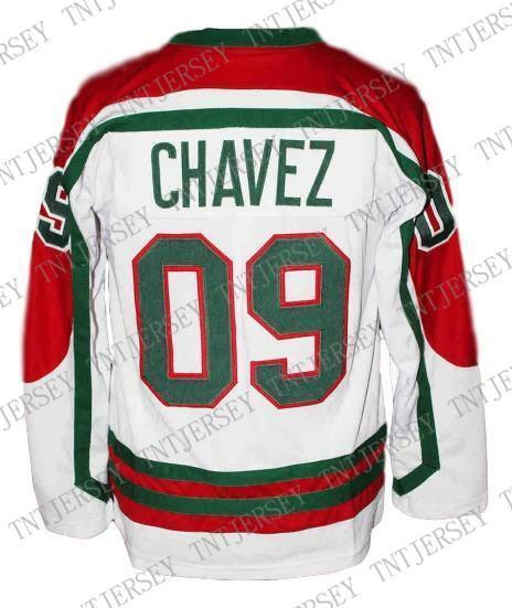c4869b699 Custom  09 Chavez Mexico Hockey Jersey New White Personalized stitch any  number any name Mens Hockey Jersey XS-5XL