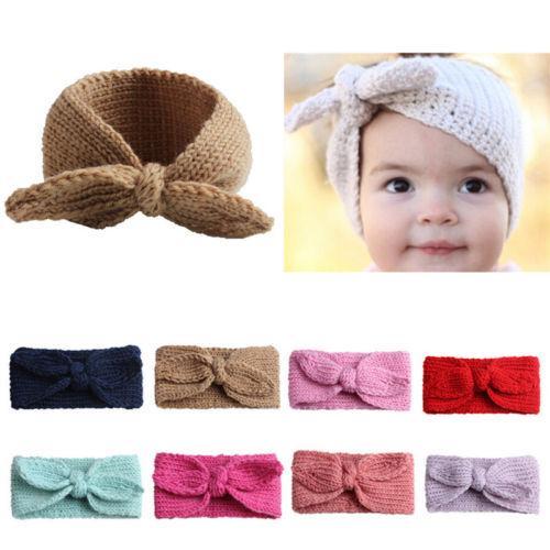 Baby Toddler Girl Kid Bowknot Turban Wrap Headband Hair Band Headwrap Headdress