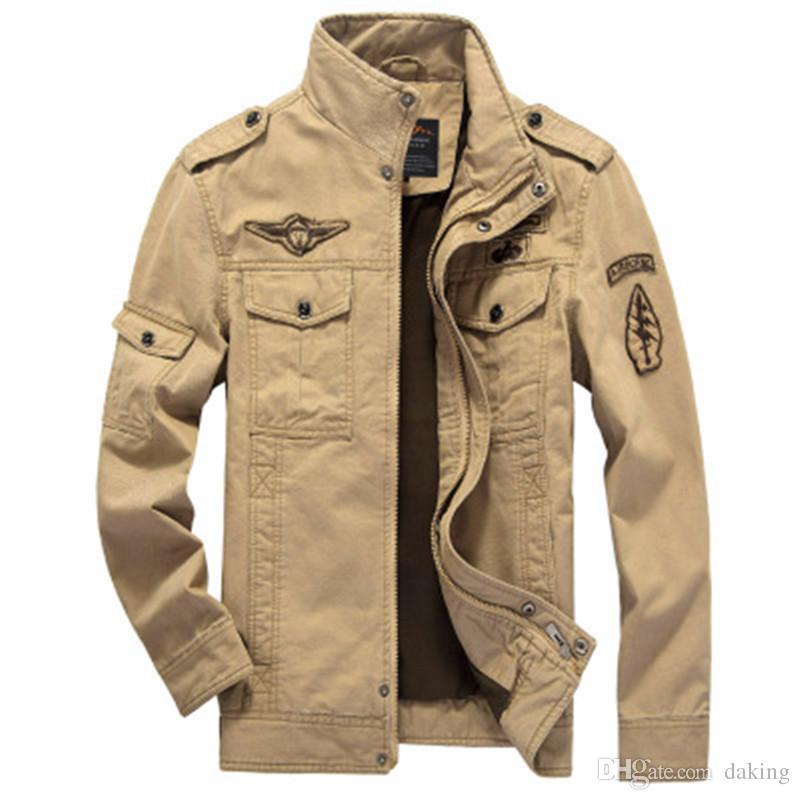 تكلف أوروبا الولايات المتحدة اليابان رجال الجيش السترات الساخن الرياضية العسكرية ملابس خارجية التطريز الرجال سترة للشهم معاطف الرجل وسيم