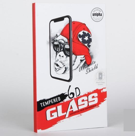 Scatole di imballaggio del pacchetto della scatola al minuto della spugna di EVA per la superficie curva 3D Protezione di vetro temperata della superficie Samsung S7 bordo S8 S9 più Nota8 9