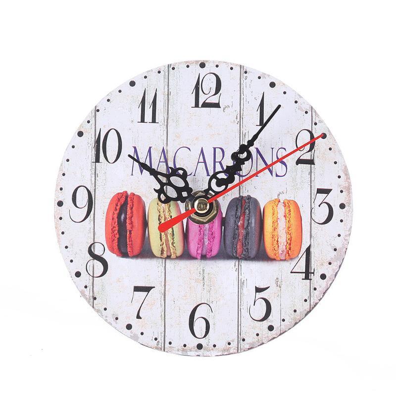 Старинные круглые настенные часы имитация дерева ретро номер круглые часы украшения дома часы для гостиной спальни dropshipping 325Z