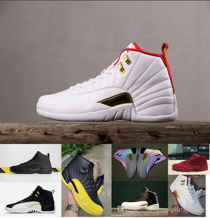 12 XII Gym Chaussures De Basket Rouge XII CNY Nouvel An Chinois Baskets Hommes Université Or Winterized Chaussures FIBA ​​Wings 12 Sneaker
