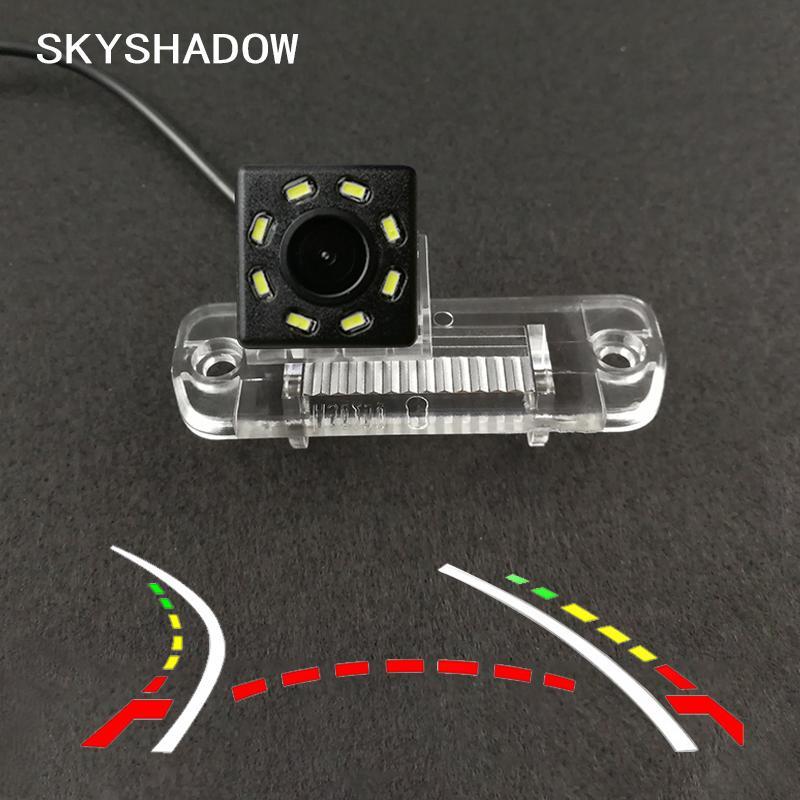 HD senza fili dell'automobile del CCD della telecamera posteriore Fisheye 4 8 12 dinamica LED per Classe R R350 R500 ML350 W203 W211 B200 A160 W219