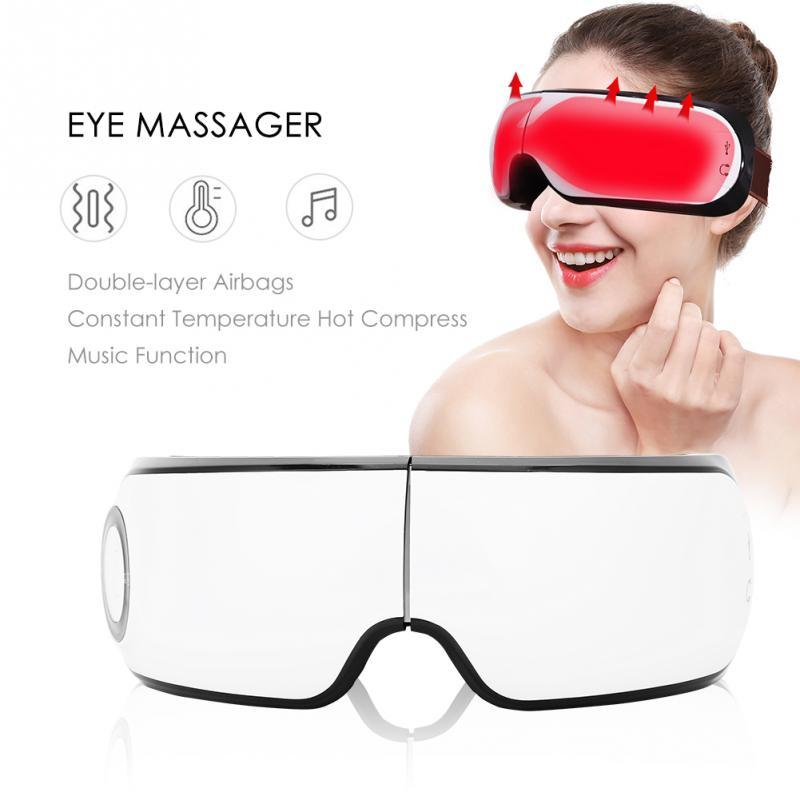 Wireless Eye Massager Eyesight Protection Hot Compress Eye Mask Relieve Fatigue Health Care