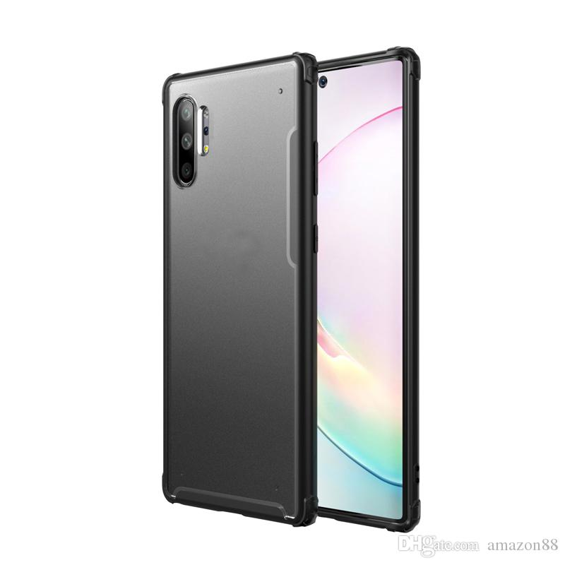 Bir PC'de iki + TPU Kılıf Samsung Galaxy Not Için 10 10 artı iPhone XS Için XR XS MAX Darbeye Koruyucu Kılıf Kapak