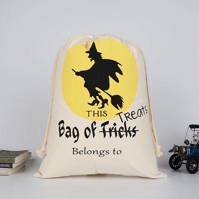 Hot Sale Christmas Gft Bag Large Organic Heavy Candy Canva Sack Santa Claus Bag Drawstring Bag for kids gifts