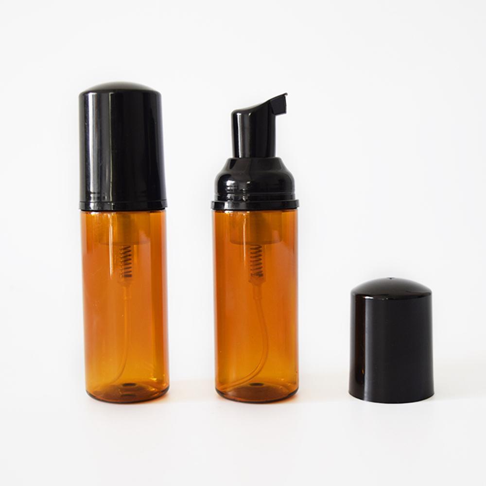 (40шт)50 мл пустой коричневый вспенивающийся насос косметическая бутылка, пластиковые бутылки пены, стиральная жидкость мыло насос пены контейнер
