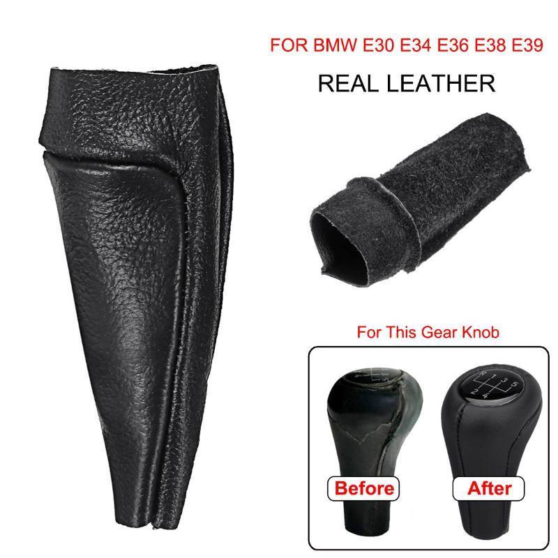 PU Leather Gear Stick Konb Cover Shift Gaiter Boot For BMW E30 E34 E36 Z3 X3
