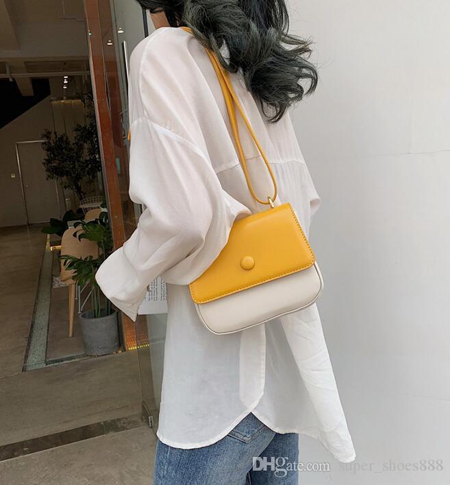 Новая мода цветной квадратный пакет текстуры порт Fengshen одно плечо пакет