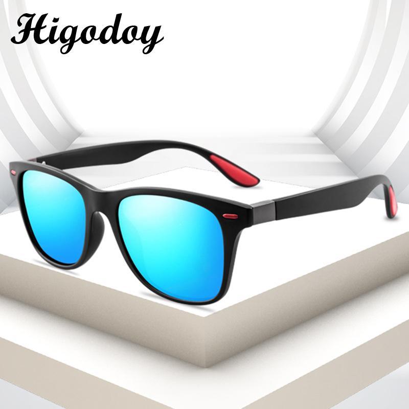 Higodoy Moda Vintage Polarize Kadınlar Sunglass Gözlüğü Klasik Kare Lüks Büyük Boy Güneş gözlüğü Erkekler Sürüş Polarize Gafas
