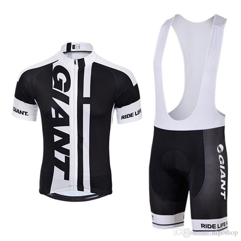 2018 Giant Cycling Clothing MTB Bike Short Sleeve Cycling jersey Anti UV Wear bib shorts set 304517