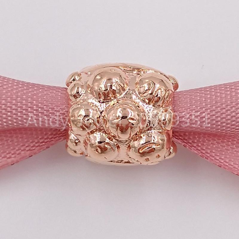 Autentiche 925 perline in argento sterling 925 colore rosa argento fascino adatti ai braccialetti di gioielli in stile Pandora europeo 781039 Placcato in oro rosa