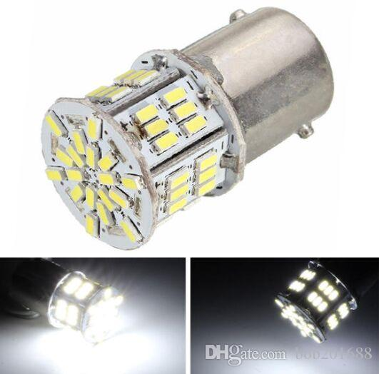 1156 BA15S 54 LED 3014 SMD Car Rear Light Bulb Bianco DC 12-24V
