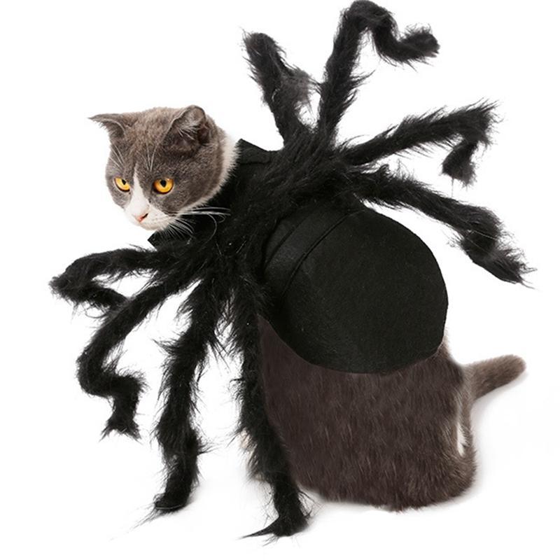 Örümcek Köpek Kostüm Cadılar Bayramı Örümcek Pet Kostüm Kıyafet Giyim Kürklü Örümcek Bacaklar