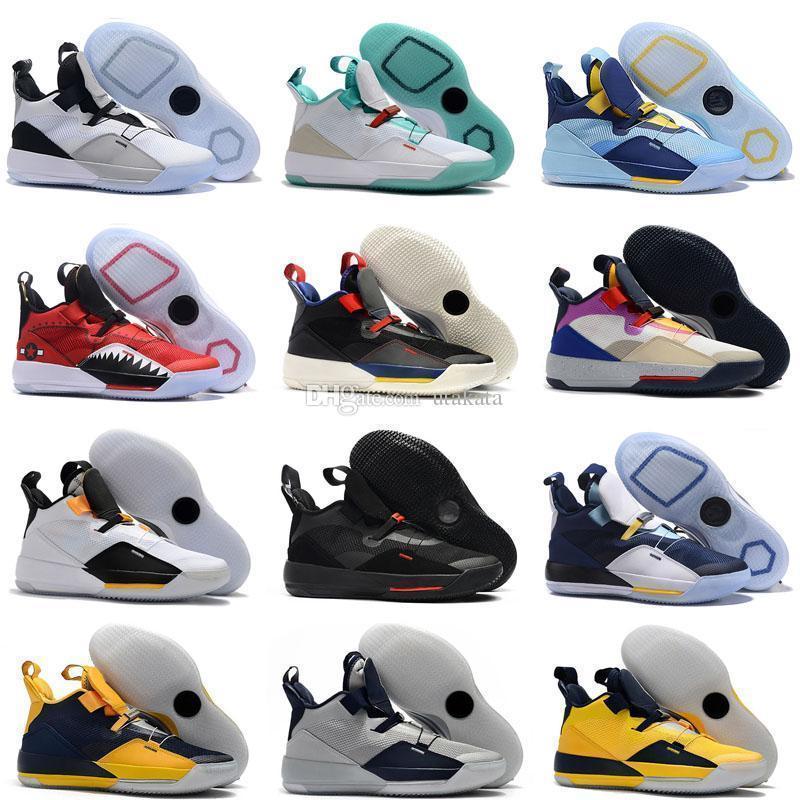 BoxJumpman ile Yeni 33 XXXIII 16 Renkli Beyaz Yeşil Mor Spor Basketbol Ayakkabı Mens En kaliteli multicolo Sneakers Eğitmenler Boyutu 7-12