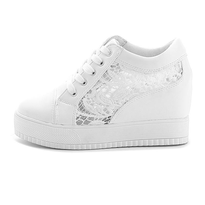 Hot Sale- Fashion Wedge Women Footwear Height Increasing women Shoes Women's casual shoes free shipping Increase 8CM Sneakers