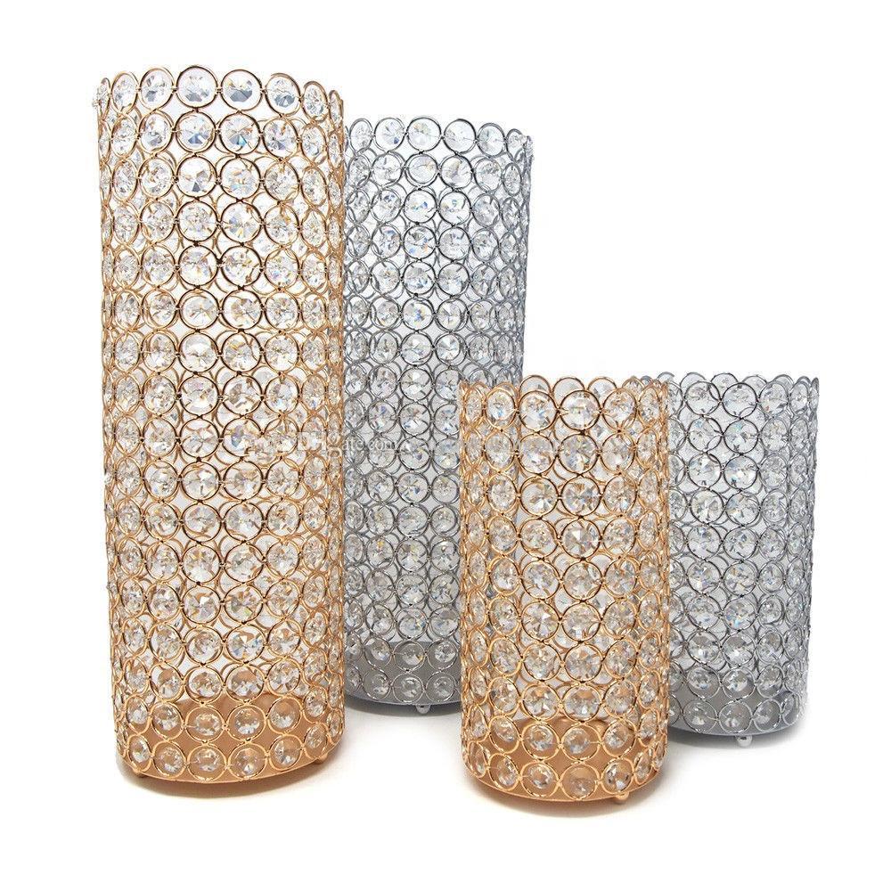 luxury tall crystal beaded wedding aisle pillar for wedding table decoration senyu0484