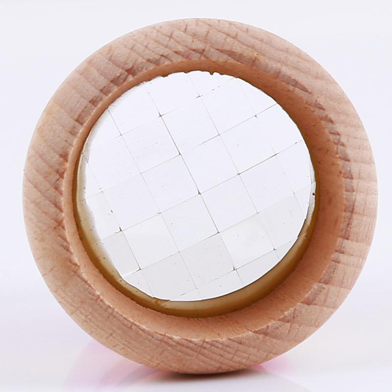 O arco-íris brinquedos de madeira bonito Magicalal Mini Kaleidoscope Bee Eye Effect Polygon Prism Toy Crianças