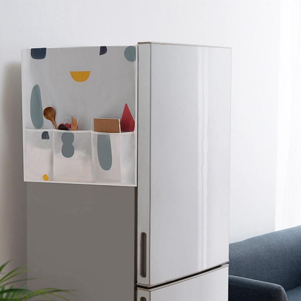 Rangement Machine À Laver acheter creative réfrigérateur anti poussière couverture de mode muti  fonctionnel sacs de rangement réfrigérateur poche organisateur machine À  laver