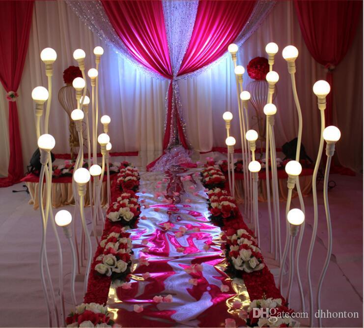 التصميم الحديث الزفاف ضوء الطريق الرصاص الطريق الرصاص الطريق أضواء LED 5 بولي كلوريد الفينيل مصباح آخر أي طريق منحني الطريق زينة ضوء الممشى