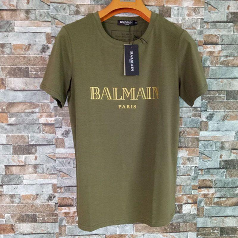 Balmain Mens Stylist T Shirts Fashion Men Women Stylist Short Sleeve Balmain Stylist Letter Ptint T Shirt Size S-XXL