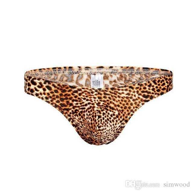 Intimo uomo Intimo modello leopardo Slip da uomo Slip a vita bassa Hombre underwear Traspirante Mutande maschili Mutandine Intimo