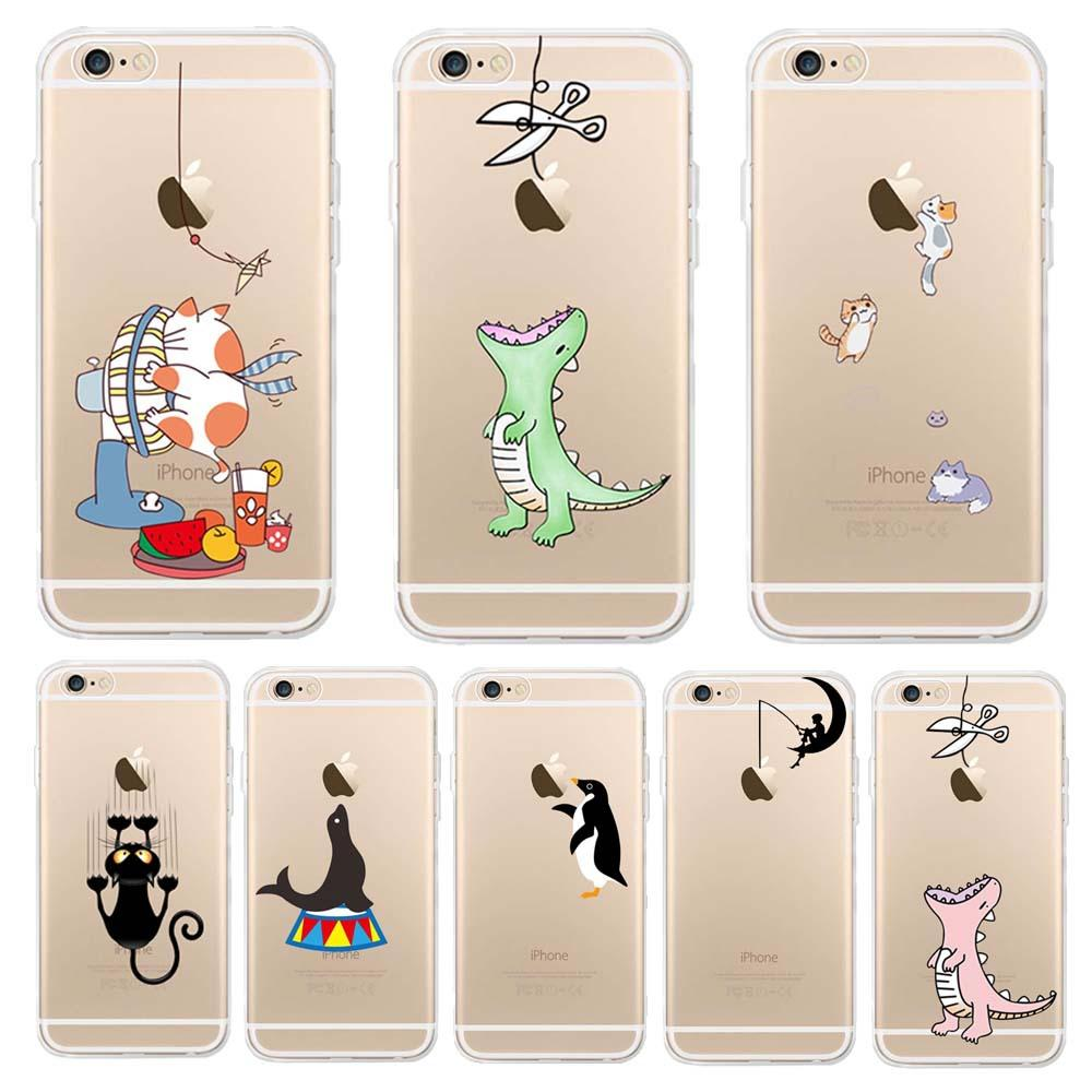 Cute Animal Soft Tpu Phone protection Case for Iphone 5 SE 6 7 8 XR 11 Pro Max Shockproof Anti-Knock