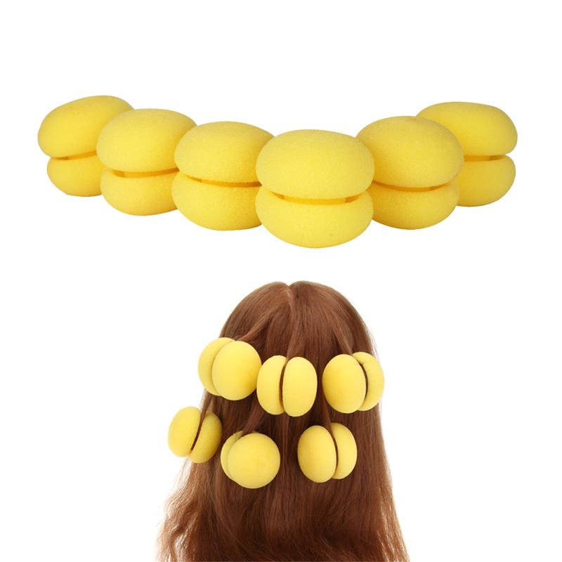 6pcs Magic Sponge Hair Curler Rollers Hair Care Foam Balls Curlers Bun Hairdressing Roller Diy Styling Tools
