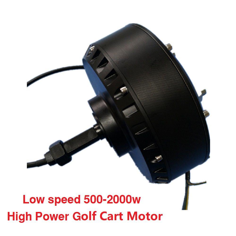 Düşük Hız 500-2000W fırçasız DC Yüksek Güç Tek Yan Tekerlek Hub Motor Golf Arabası Motor