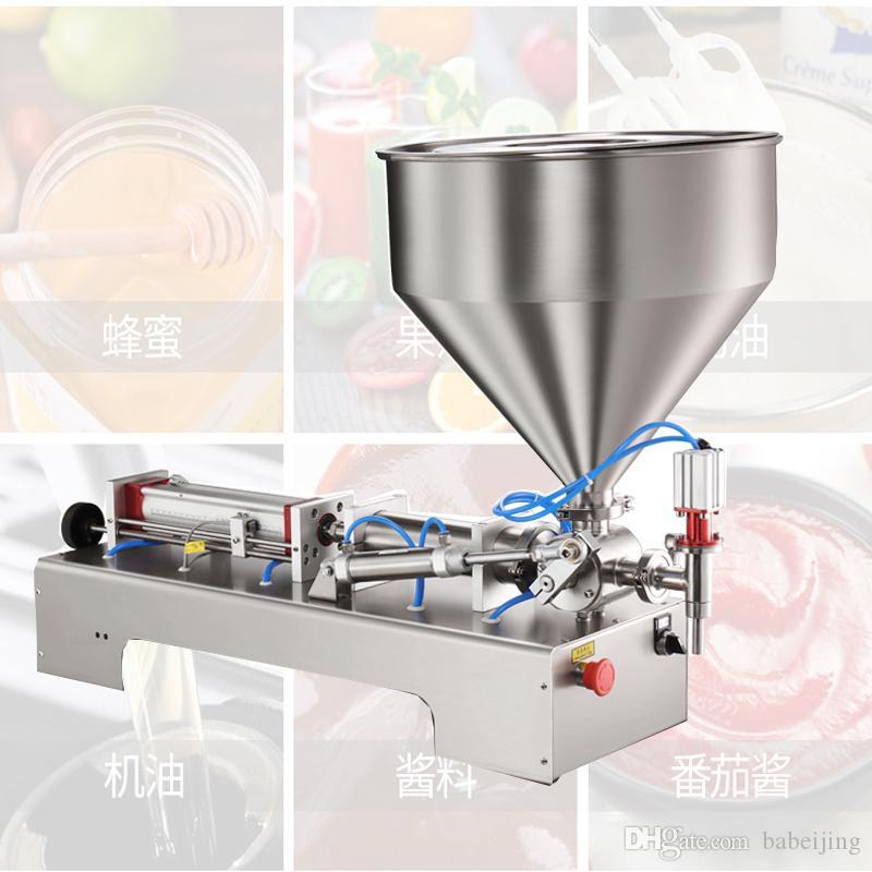 máquina de llenado neumático de pistón typ cuantitativa pegar máquina de llenado para la máquina de llenado sola cabeza de salsa de tomate de maní salsa de mantequilla de chile