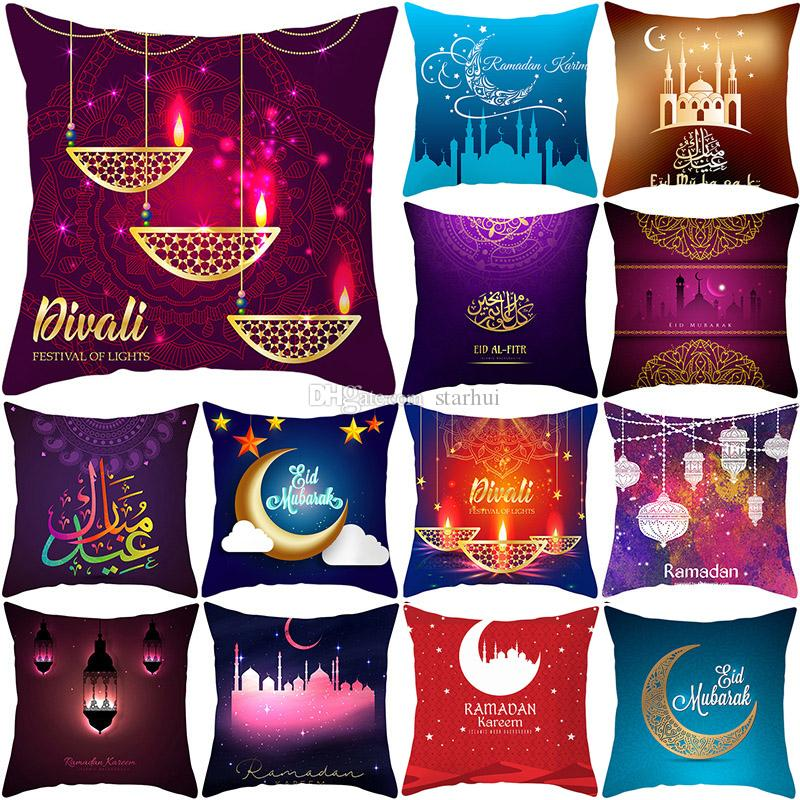 Multicolor Pillow Case Cushion Cover Glamour Square printing Pillowcase Cushion Cover Home Office Sofa Car Decoration 40 Style WX9-1268
