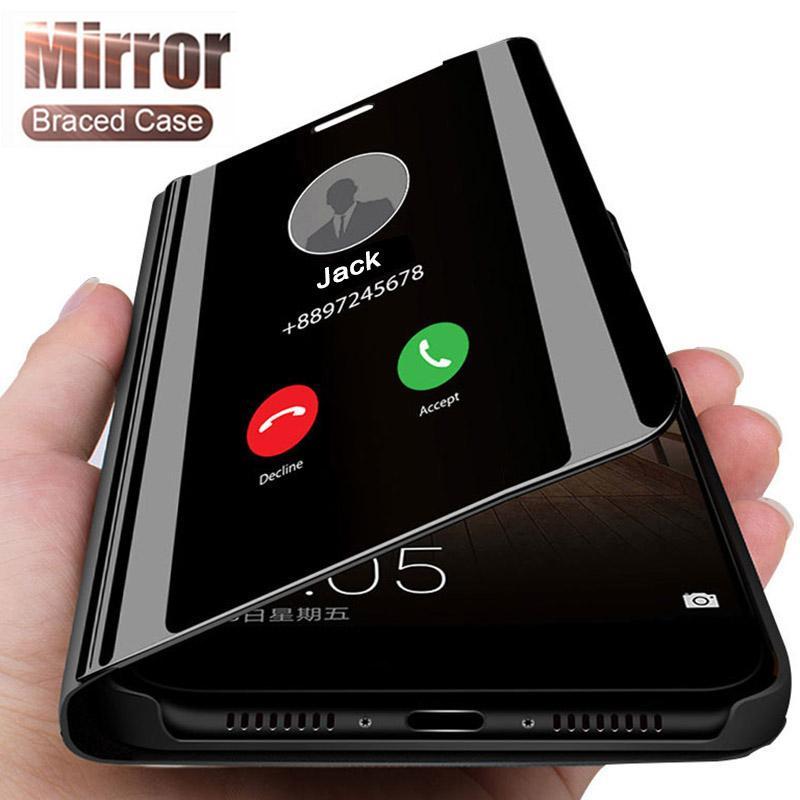 للحصول على اي SE 2020 حالة الذكية مرآة الهاتف القضية للحصول على اي إكسس ماكس رؤية واضحة حقيبة جلد الوجه لفون إكسس XR
