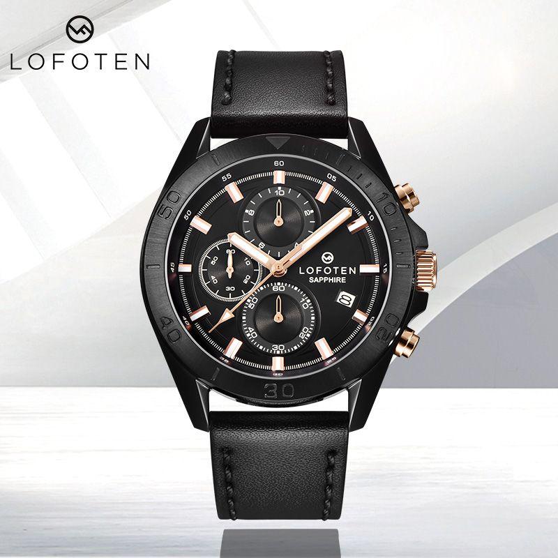 Pelle Strarp di lusso in acciaio inox ocysa rosa oro moda zaffiro in cristallo impermeabile uomo orologio al quarzo orologio cronografo orologi orologi da polso