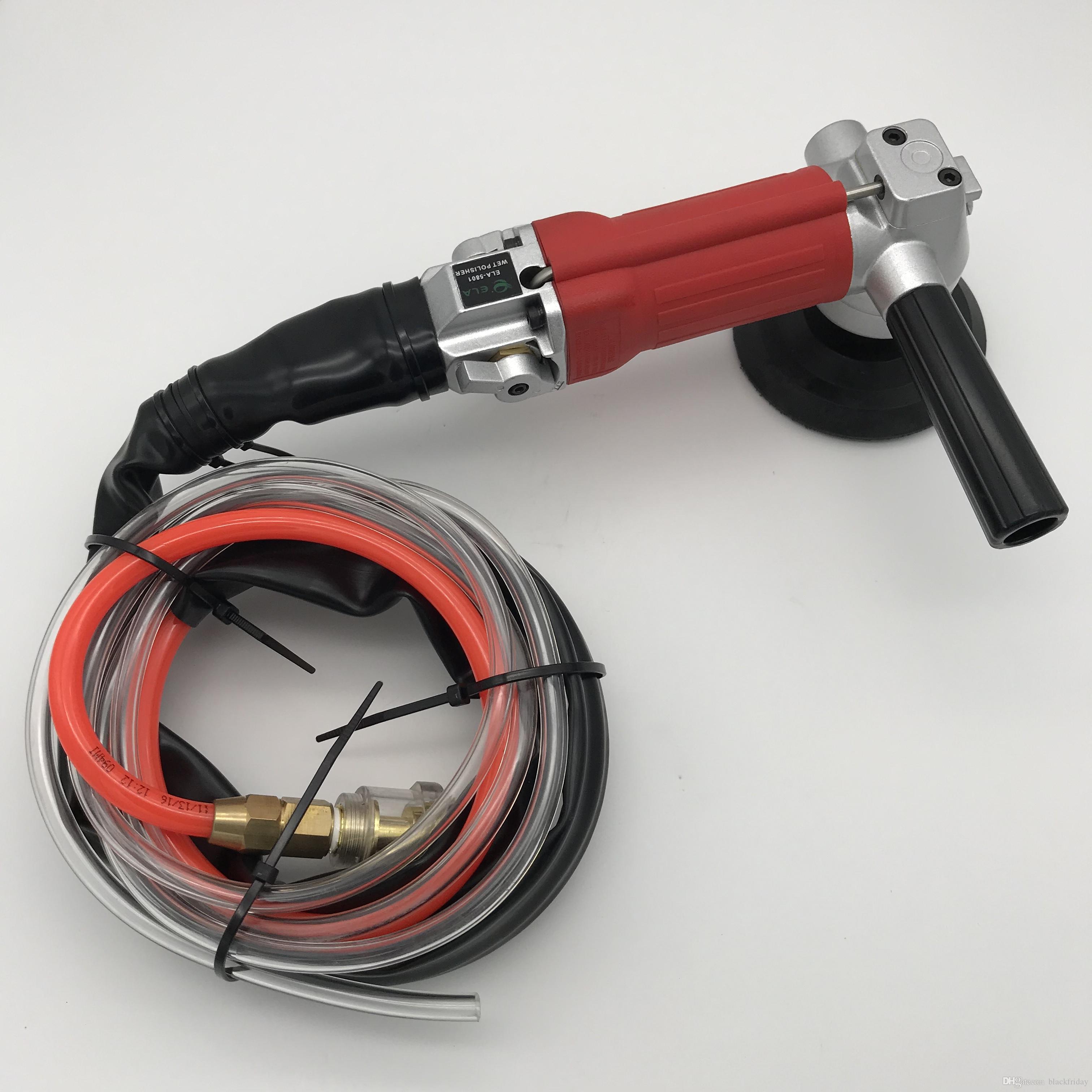 Polisseuse haute qualité d'échappement arrière Air humide Couleur Rouge pneumatique Air Sander pneumatique Grinder discussion 5 / 8-11 ou M14