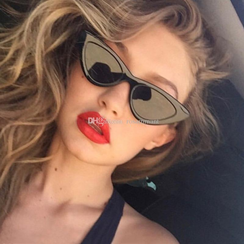 Womens Fashion Wholesale Triangle Cat's Eye Small Size Festival Sunglasses Lolita Style Fancy Party Eye Wear Glasses Cheap