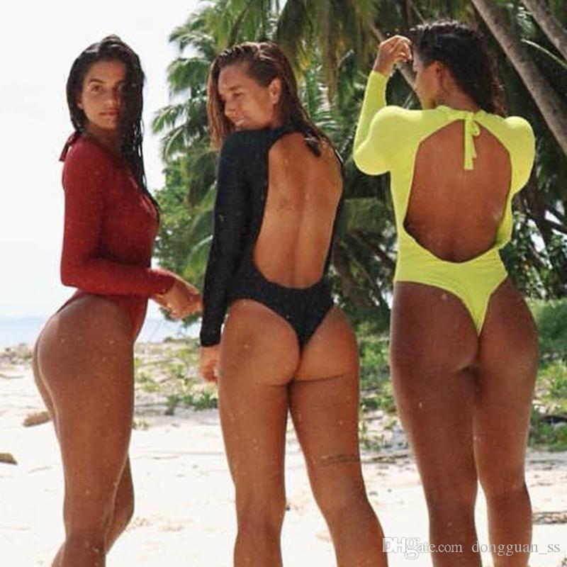 طويلة الأكمام قطعة واحدة ملابس السباحة الأفعى طباعة ملابس النساء مثير ملابس داخلية الأحمر 2020 بالاضافة الى حجم ثوب السباحة Monokini ملابس السباحة 2XL