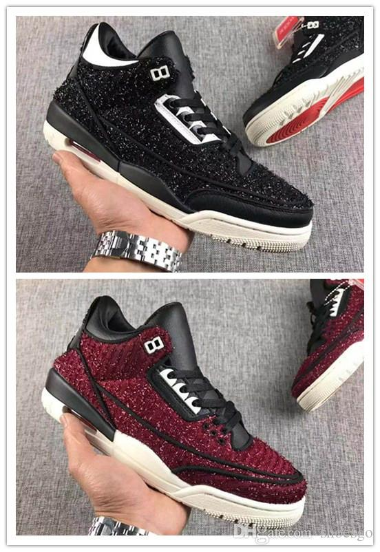 35483d43ab59 Good Quality Vogue x 3 AWOK Men Basketball Shoes University Red Black Sail  Mens Designer Trainers Sneakers US 7-13 With Box