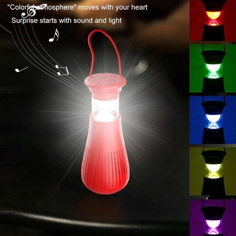 Audio Carpa de la lámpara de luz de la noche creativa de emergencia portátil al aire libre con audio inalámbrico de carga Lámpara impermeable Inicio