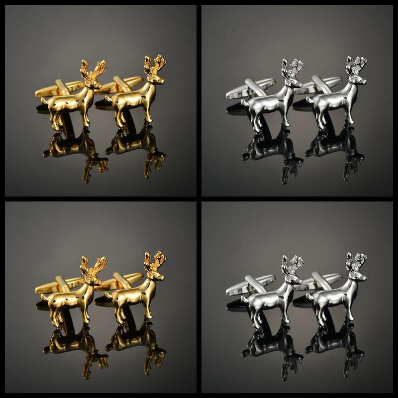 Çıtçıt ve Kol Düğmesi kol düğmeleri Fransız uzun kollu gömlek geyik Moda