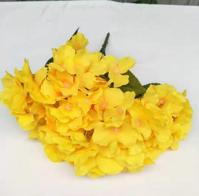Wholosale Five forks Hydrangea Bouquet Silk Flowers wedding decorative flower 47cm long silk hydrangea bouquets for party supplies