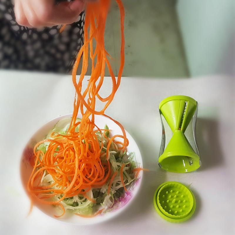 luluhut vegetable spiral slicer carrot cucumber noodle julienne cutter peeler kitchen piece grater cooking tool slicer twister
